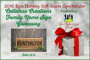 Callahan Creations Family Name Sign Giveaway