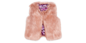 Cat & Jack's Girls' Fur Vest