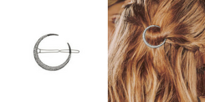 Chloe + Isabel Starburst Pavé Moon Hair Clip ($24)