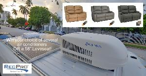 choice of love seat or RV air conditioner