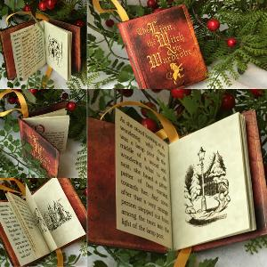 Christmas Book Ornament