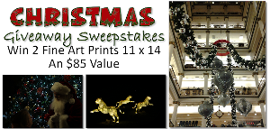 Christmas Giveaway Sweepstakes 2 Fine Art Prints 11 x 14 $85 retail value