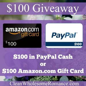 Clean Wholesome Romance $100 Giveaway