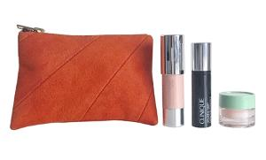 Clinique Deluxe Trio and Leather Pouch