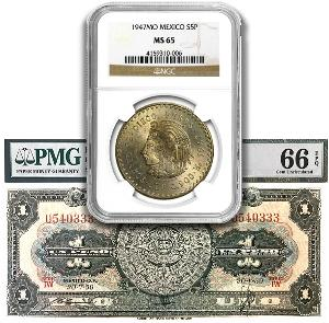 Coin Giveaway # 399 ~ Win a Certified Mexican Silver Coin and Unc Banknote