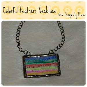 Colorful Feathers Necklace