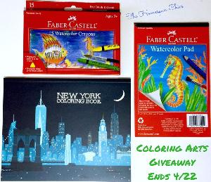 Coloring Arts Giveaway