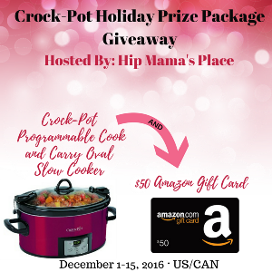 Cook & Carry Crock-Pot AND $50 Amazon Gift Card Giveaway
