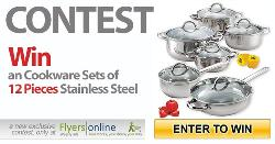 Cookware Set of 12 Pieces Stainless Steel""