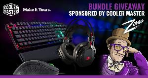 Cooler Master Headset, Keyboard, Mouse Bundle