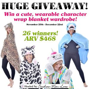 Cozy Character Blanket Wraps Giveaway