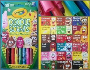 Crayola Metallic and Doodle Scent Pen's Giveaway