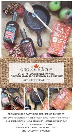 Crown Maple Cast Iron Skillet Kit""