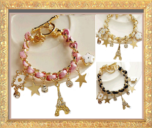 Crystal Eiffel Tower Bracelets