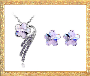 Crystal Flower Jewellery Sets
