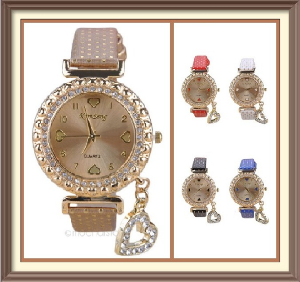 Crystal & Rhinestone Quartz Watch