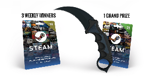 CS:GO Skin and Steam Giftcard