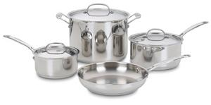 Cuisinart 7-Piece Stainless Cookware Set (ARV $85.99)
