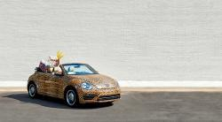 Custom Leopard Wrapped 2018 VW Beetle Convertible""