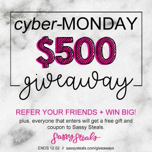 Cyber-Monday $500 Giveaway!