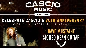 Dave Mustaine Signed Dean Guitar