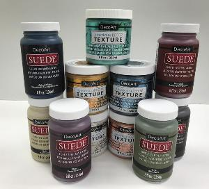 DecoArt Suede and Texture Paint Prize Pack