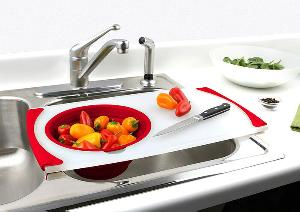 Dexas Over the Sink Cutting Board and Strainer