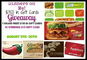 Dinner's On Me Giveaway