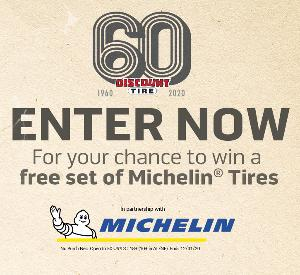 Discount Tire 60th Anniversary Sweepstakes