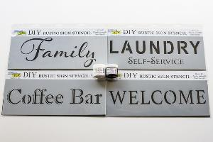 DIY Rustic Sign Stencils and Modeling Paste Giveaway