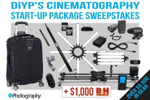 DIYPhotography is giving away over $6,500 to kick-start your Cinematography Career