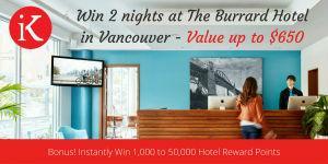 Downtown Vancouver, Canada Hotel - Win 2 nights + Dinner up to $650 Value!