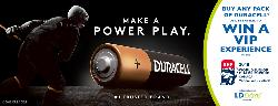 duracell battery and a hockey players