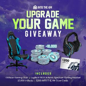 DXRacer Gaming Chair, Logitech Headset, 10,000 Fortnite V-Bucks & $200 INTO THE AM GC
