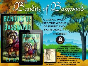 E.P. Bellows is giving away a summer goodie bag containing Azra's Pith swag! Goodie bag includes a coffee mug, tumbler, beach towel, paperback and kindle copy of Bandits of Basswood!