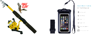 Eagle Claw Telescopic Rod & Reel and a waterproof phone case!