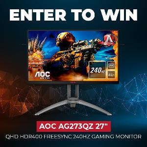 Easy Entry!Win an AOC AG273QZ 240Hz gaming monitor!