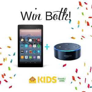 Echo Dot + Kindle Fire 7 Giveaway