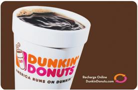 Enter for a chance to win a $50 Dunkin' Donuts gift card!