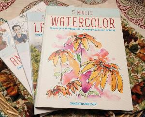 Enter for a chance to win a Firefly press copy of 5 Minute Watercolor: Super-Quick Techniques For Amazing Watercolor Painting by Samantha Nielsen.