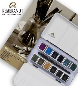 Enter for a chance to win a Rembrandt Professional Granulating Colour Watercolour Set In Metal Tin (12 half pans) + 1 Travel Brush and 13X18, 300G Watercolour Paper Pad, 20 Pages!!