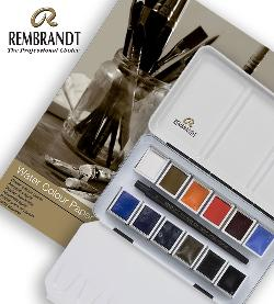 Enter for a chance to win a Rembrandt Professional Urban Cityscape Watercolour Set In Metal Tin (12 half pans) + 1 Travel Brush and 13X18, 300G Watercolour Paper Pad, 20 Pages.