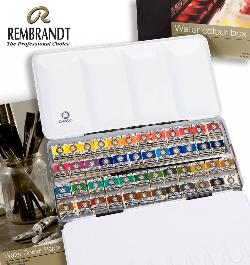 Enter for a chance to win a Rembrandt Professional Watercolour Metal Tin Set, 48 Half Pans + 1 Brush and 13X18, 300G Watercolour Paper Pad, 20 Pages!!