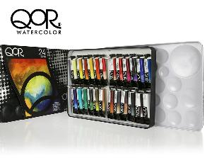 Enter for a chance to win a set of 24 5ml tubes of QoR Watercolor!!