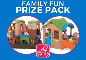 Enter for a chance to win a Step2 Clubhouse Climber and Gather & Grille Playhouse!