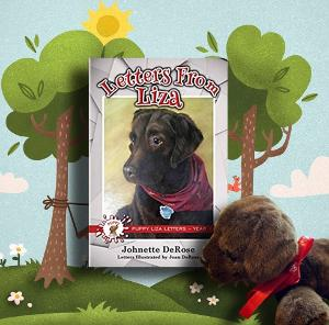 Enter for a chance to win an autographed copy of Letters From Liza and an adorable chocolate lab plush toy!