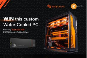 Enter for a Chance to Win One Custom Water-Cooled PC Featuring Seagate FireCuda 530 Heatsink Edition NVMe!!