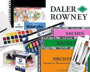 Enter for a chance to win this amazing prize package from Daler-Rowney that includes: Daler-Rowney Aquafine Watercolor Travel Set, Daler-Rowney Aquafine Watercolor Inks, Daler-Rowney Aquafine Watercolor Tubes,+ more..!