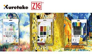 Enter for a chance to win three limited edition Historic Art series sets from Kuretake, which encourages artists to use 3 painting materials and a small selection of colors to challenge yourself to create beautiful works of art!