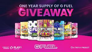 Enter for your chance to win a One Year Supply of G FUEL!!